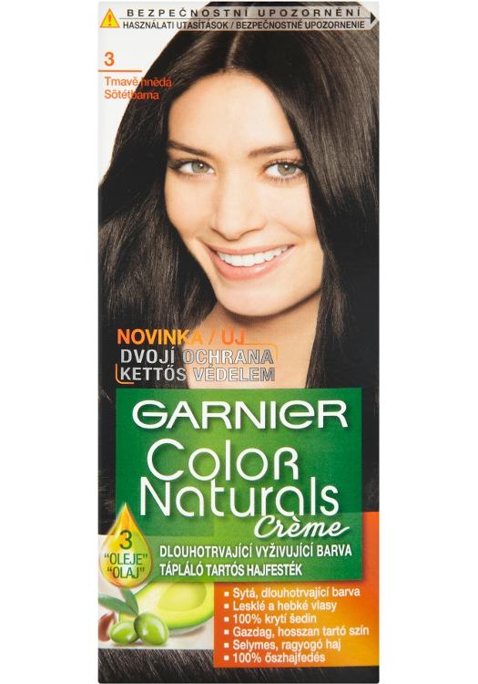 Fotografie Garnier Color Naturals Creme Farba Na Vlasy Odtien 3 Dark