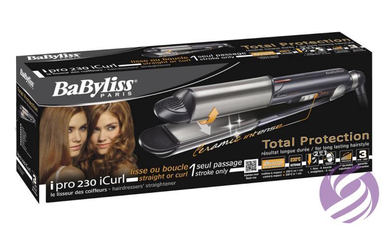 Žehlička a kulma na vlasy 2v1 BaByliss - poškodená krabica - BaByliss  fd2d649135f